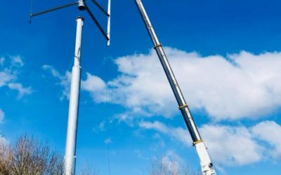 Montage d'éoliennes