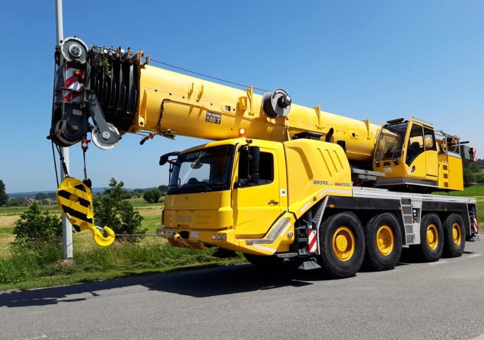 Nouvelle grue Grove GMK 4100 L disponible à la location
